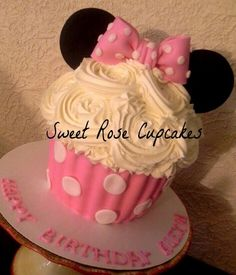 minnie mouse smash cake cupcake - Google Search