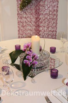 Tischdekoration hochzeit glasvasen mit hortensien und rosen deko self made pinterest - Tischdeko orchideen hochzeit ...