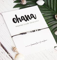 #etsy shop: Gender Neutral Gift,Ohana Morse Code Bracelet, Matching Family Bracelet,Multiple Sizes, Family Brother Sister Gift, Gender Neutral Bracelet