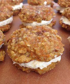Carrot Cake Sandwich Cookies (gluten-free & dairy-free!)