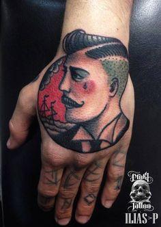 old school man tattoo - Google Search