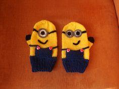 Minions Handschuhe stricken