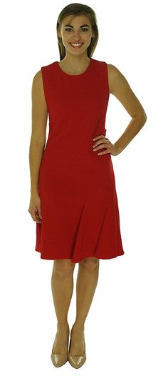 Calvin Klein Womens Textured Sleeveless Wear to Work Dress => Discover this special product, click the image : Dresses