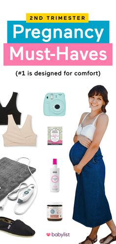 As your belly grows, so will the need for few key products to ease your discomfort. Whether it be for stretch marks, better sleep or swollen feet, these 12 products are overwhelmingly beloved for helping mamas through the second trimester all the way to labor and delivery. Check out these genius pregnancy must-haves that are designed for comfort. 2nd Trimester Of Pregnancy, First Time Pregnancy, Pregnancy Help, Pregnancy Must Haves, Pregnancy Advice, Second Trimester, Pregnancy Photos, Best Baby Registry, Baby Information