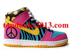 cheap for discount 61ebd 303ac Best selection of designs, styles and color combinations in stock, your  favorite Custom Nike Dunk High Top Premium Funky Town Shoes is on sale now  up to ...