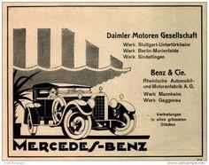 Original-Werbung/ Anzeige 1925 - MERCEDES - BENZ - ca. 140 x 110 mm
