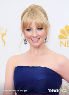 Actress Melissa Rauch attends the 66th Annual Primetime Emmy Awards at the Nokia Theatre L.A. Live on August 25, 2014 in Los Angeles, California.  (Photo by David Livingston/Getty Images)  --  Access, discover and share millions of images at *newzcard.com.
