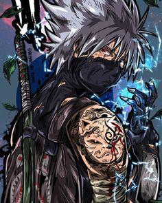A ninja showing off his many tattoos and getting ready for an epic battle. Kakashi Anbu, Madara Susanoo, Naruto Vs Sasuke, Anime Naruto, Fan Art Naruto, Naruto Shippuden Anime, Boruto, Manga Anime, Naruto Wallpaper