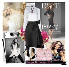 """Happy Birthday, SJP!"" by elena-777s ❤ liked on Polyvore featuring Sarah Jessica Parker, Nicki Minaj, Arche, Reeds Jewelers, Emporio Armani, Lanvin, Dolce&Gabbana and Giuseppe Zanotti"