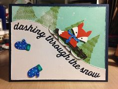 Sledding Fox Dashing Through the Snow: Taylored Expressions, Impression Obsession and Memory Box dies