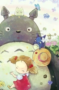 Image uploaded by Đông Đông ◔◡◔. Find images and videos about totoro, anime and manga on We Heart It - the app to get lost in what you love. Studio Ghibli Films, Art Studio Ghibli, Hayao Miyazaki, Manga Anime, Anime Art, Animes Wallpapers, Cute Wallpapers, Chibi, Girls Anime