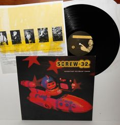 SCREW 32 unresolved childhood LP Record with lyrics , WingNut records 1994  #punk