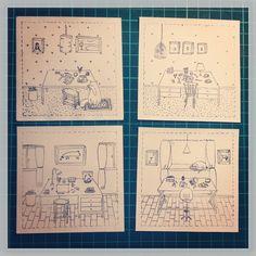 """Fragmento del libro """"Cuatro Cuartos"""" por María Andrea Miranda Serna. Proceso litigráfico con lámina de poliéster. Libro de Artista. 2014"""