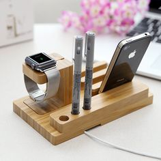 Franswood bamboo stand iphone stand, iwatch stand, i phone stand