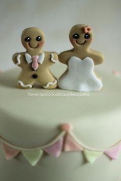 Gingerbread Bride And Groom Wedding Cake