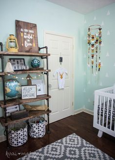 Finally getting around to sharing my little guy's nursery. I really love how it all turned out. I thought putting together a boy nursery wouldn't be as fun as it was with my two girls but I was so …