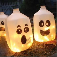 Skip pumpkins go with milk jugs
