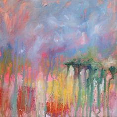 Abstract Acrylic Lanscape on 12x12 Canvas  by BellaCosaArt on Etsy, $65.00