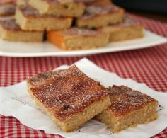 Snickerdoodle Blondies Recipe - Low Carb, Gluten Free, and Keto friendly - All Day I Dream About Food