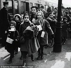 Jewish refugee children arrive in London in February 1939, saved by Nicholas Winton, who helped 669 Jewish children escape Nazi-occupied Czechoslovakia.