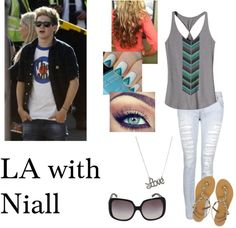 """""""LA with Niall"""" by directioner1011 ❤ liked on Polyvore"""