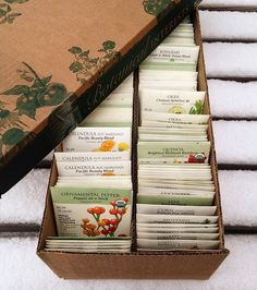 """""""We're getting snowed under here at Nutrition Services- both with the weather and with these seed donations! We just received a box of Botanical Interest's beautiful and informative seed packets, featuring plants like rainbow quinoa and dwarf blue kale! Thanks so much @botanical_interests for this package of sunshine on a snowy winter day ❄️🌱🌞❄️ PS: we hope to go back to posting photos of our students as soon as we can get planting in the gardens, but until then, enjoy our seed features…"""