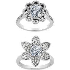 flower engagement rings    I FOUND MY RING!!! BOTTOM!!!!!