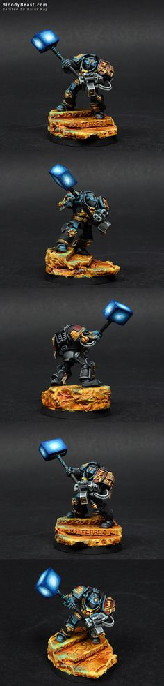 40k - Grey Knight with Nemesis Daemon Hammer via BloodyBeast.com