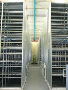 Tall and capable - our warehouse racking is designed to meet your storage needs with durable, easy-access racking at affordable prices. http://www.compactstorage.co.uk/mobile-shelving/maxstor/