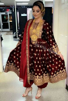 Got to love that colour Eid Dresses, Pakistani Dresses, Indian Dresses, Indian Outfits, Afghani Clothes, Afghan Girl, Afghan Dresses, Stylish Dresses, Traditional Dresses