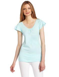 Hue Women's Solid Shirred Sleeve Sleep Tee « Clothing Impulse