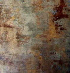 Love this finish by Chicago's Sheri Zeman. Maybe gowned down a bit it would go on dining room wall.