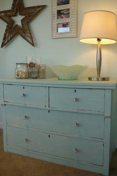 Beach Shabby Chic Dresser. $225.00, via Etsy.