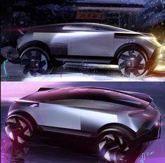 Car Design Sketch, Car Sketch, Electric Car Concept, Antique Cars For Sale, Lamborghini Concept, Vintage Rolls Royce, Automotive Design, Auto Design, Flying Car