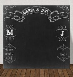 #photocall #chalk paint #chalkboard http://photocalls.es/