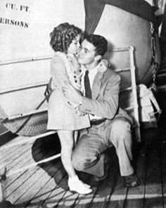 *SHIRLEY TEMPLE:  Brother George's welcome home from Hawaii, 1937