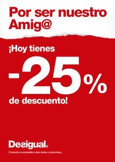 No te pierdas el 4 y 5 de abril los descuentos del 20% EN TODA LA NUEVA COLECCIÓN  Y - 25 % CON LA TARJETA AMIG@ !!!