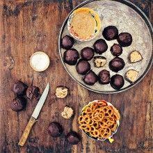 Chocolate-Pretzel Peanut Butter Balls recipe - Foodess.com