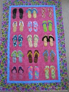 How To Make Flip Flop Quilt | This Flip Flop quilt was made by the ladies in the Heber Valley ...