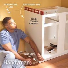 Tips For Installing Box Cabinets Successfully Learn How To Hang - Installing kitchen cabinets