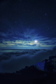 Starry Sky over Mt. Fuji, Japan by Cats AX