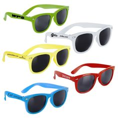 Fun in the sun with your logo on Wayfarer-style sunglasses - Custom Promotional Sunglasses - Summer Promotion - Summer Swag