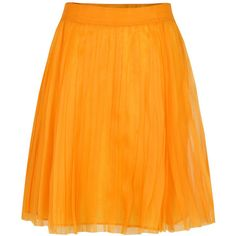 Moschino Cheap and Chic 0108 5842 Pleated Orange Skirt ($180) ❤ liked on Polyvore