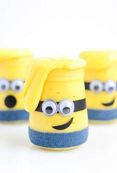 DIY Minions Slime Jars   AllFreeKidsCrafts.com