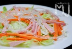 Las Recetas de MJ: ENSALADA CHINA Easy Healthy Recipes, Asian Recipes, Easy Meals, Ethnic Recipes, Oriental Food, Spanish Food, Fruits And Vegetables, Chinese Food, Fresh Rolls