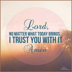 I Trust You, LORD.