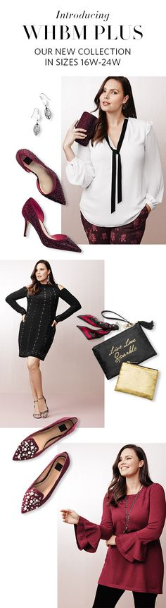 Style + Confidence = WHBM PLUS. Exude both style and confidence with our new Plus size collection. Make it a stylish holiday with one of the chicest color combinations: Black, White & Red. From the Holiday Office Party to a Girls' Night Out–we have the looks for every festive occasion. Try It On, On Us: Enjoy Free Shipping & Returns on all full-price Plus orders. Happy Holidays. | White House Black Market