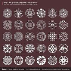 Boians_Vector_Korean_Traditional_Round_Flower_Symbol_Pattern_Design_30_Sets_001.jpg (700×700)
