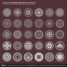 Boians_Vector_Korean_Traditional_Round_Flower_Symbol_Pattern_Design_30_Sets_001.jpg (700×700)