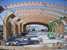 Image result for laminate beam curved arch ceiling